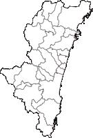 宮崎県(みやざきけん)の白地図無料ダウンロード
