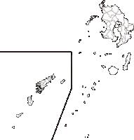 鹿児島県(かごしまけん)の白地図無料ダウンロード